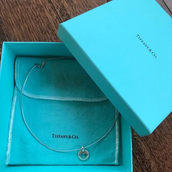 96fe5e025 Tiffany & Co. Jewelry | Tiffany Co Stencil Heart Pendant | Poshmark